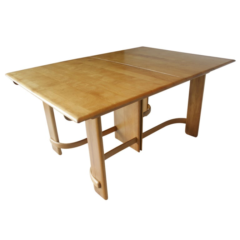 Art deco gilbert rohde for heywood wakefield dining table for Art dining room furniture