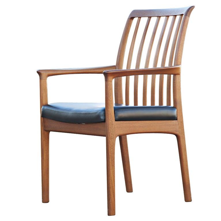 Eight teak dux scandinavian dining chairs at 1stdibs - Scandinavian teak dining room furniture ...