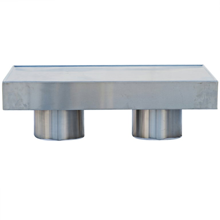 Mid Century Modern Stainless Steel Coffee Table For Sale At 1stdibs
