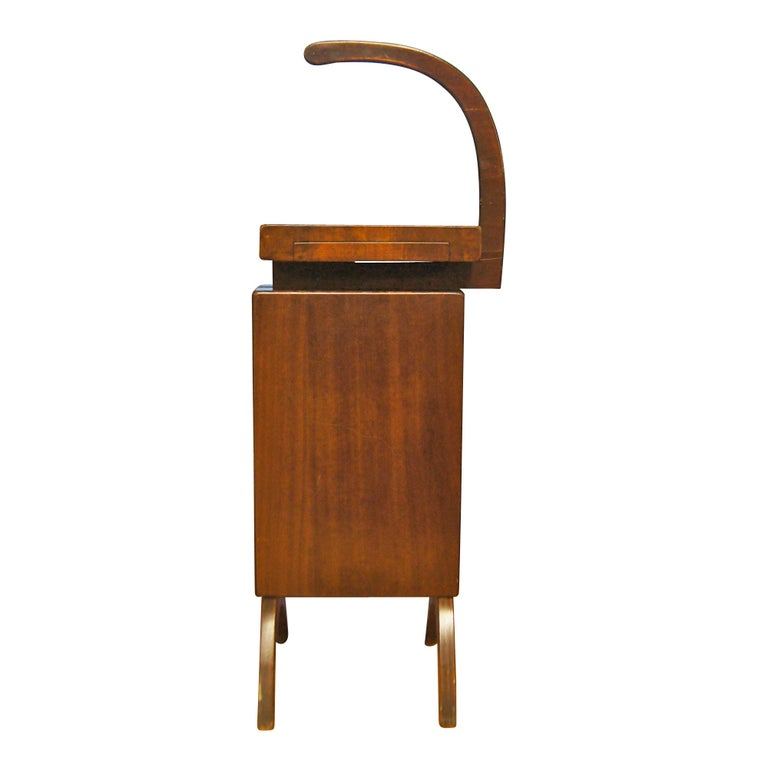 Wooden Phone Furniture ~ Mid century scandinavian style walnut telephone stand at