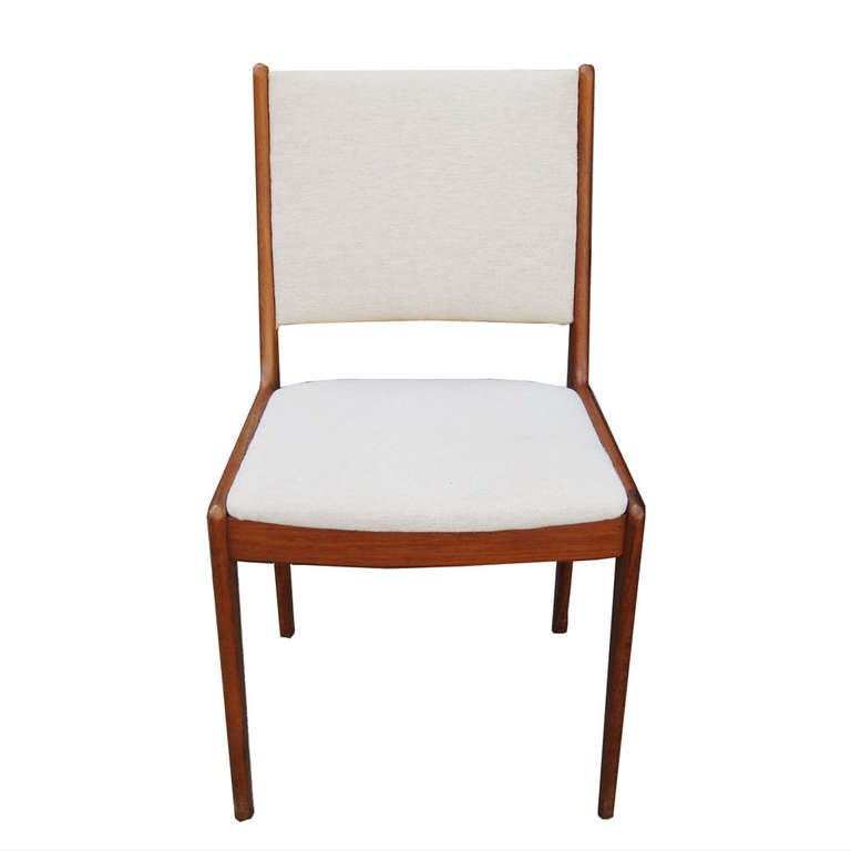 Johannes Andersen For Uldum Mobelfabrik Danish Teak Dining Chairs 2
