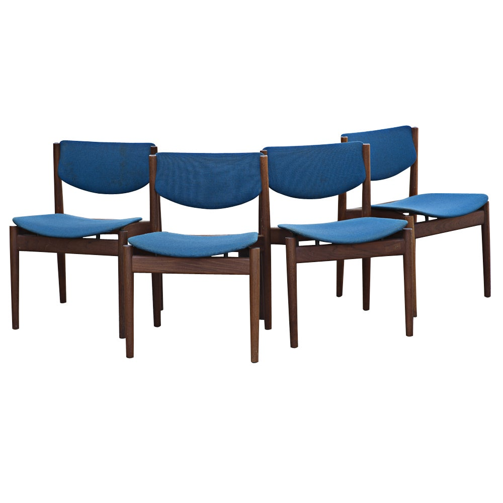 Four Finn Juhl For France & Sons Dining Chairs