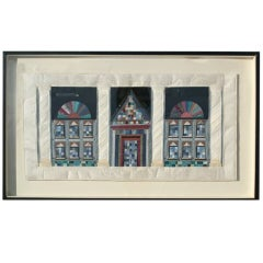 Lucinda Carlstrom Large Framed Architectural Fabric Art