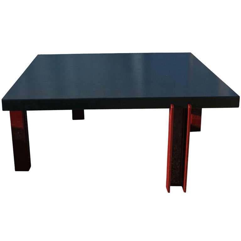 Memphis Style Ebonized Coffee Table