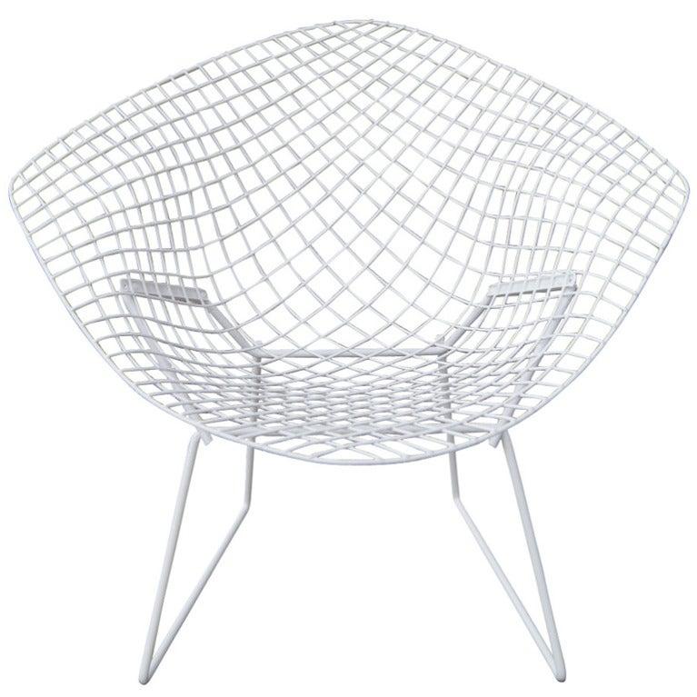 Harry Bertoia For Knoll White Diamond Chair 1