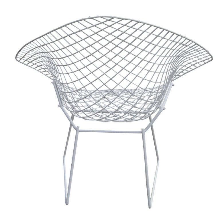 Harry Bertoia For Knoll White Diamond Chair 3