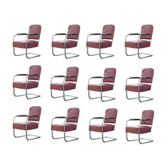 Twelve Available Art Deco Royal Chrome By Lloyd Lounge Chairs