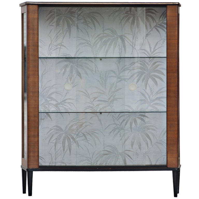 Mid Century Modern Curio Display Cabinet For Sale