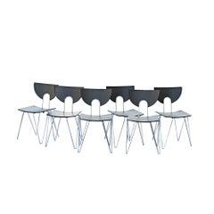 Six Kusch Walter Leeman Stackable Side Chairs