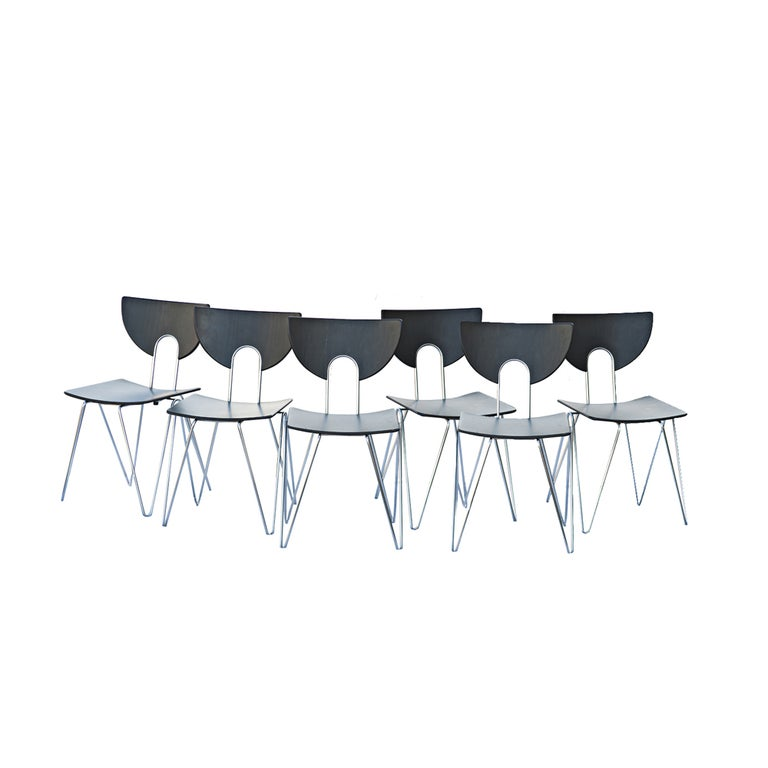 Six Kusch Walter Leeman Stackable Side Chairs For Sale