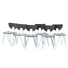 Six Kusch Walter Leeman Stackable Side Chairs