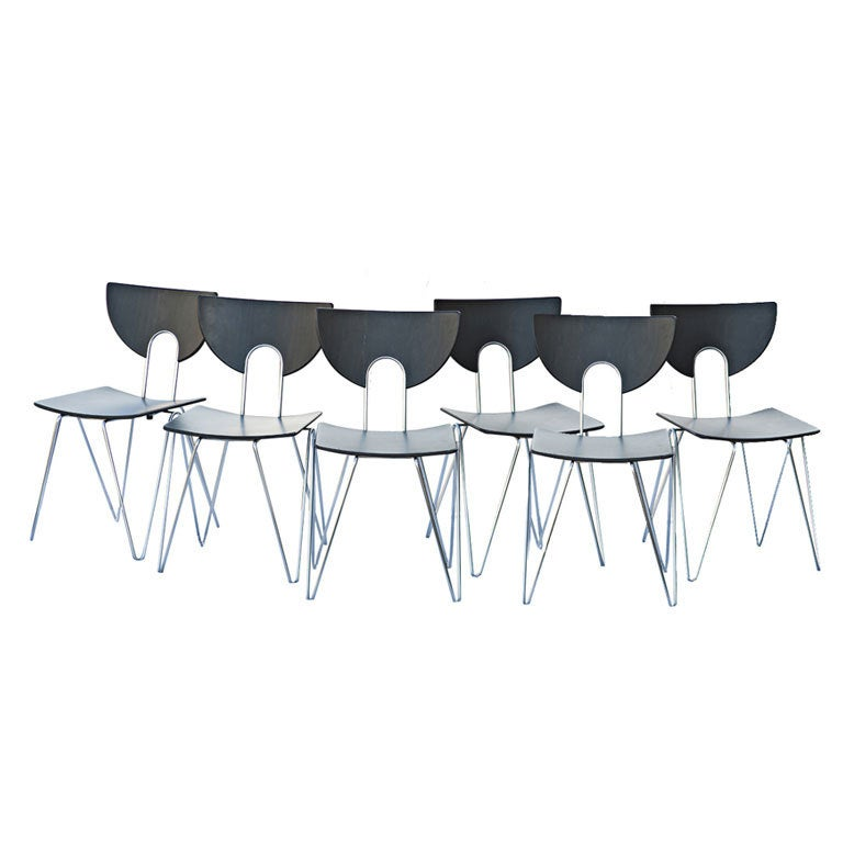 six kusch stackable side chairs for sale at 1stdibs. Black Bedroom Furniture Sets. Home Design Ideas
