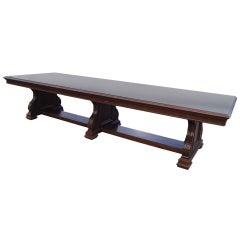 12 FT 1900s Royal Dutch/Shell Group Antique Oak Table