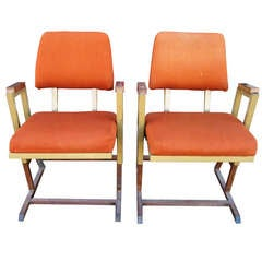Frank Lloyd Wright Theatre Chairs from the Kalita Humphreys Theater