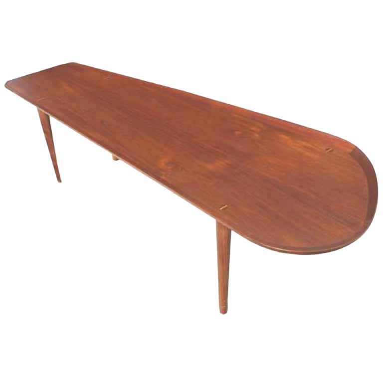 Scandinavian Style Asymmetrical Surfboard Coffee Table At 1stdibs
