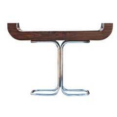 Robert Heritage Rosewood Chrome Console Table