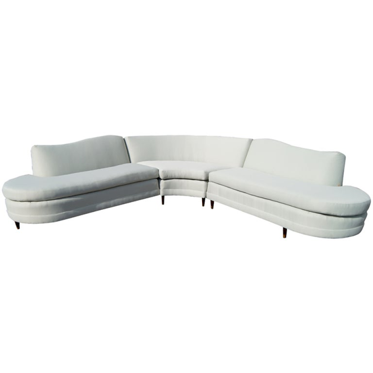 Mid Century Kroehler Three Piece Sectional at 1stdibs
