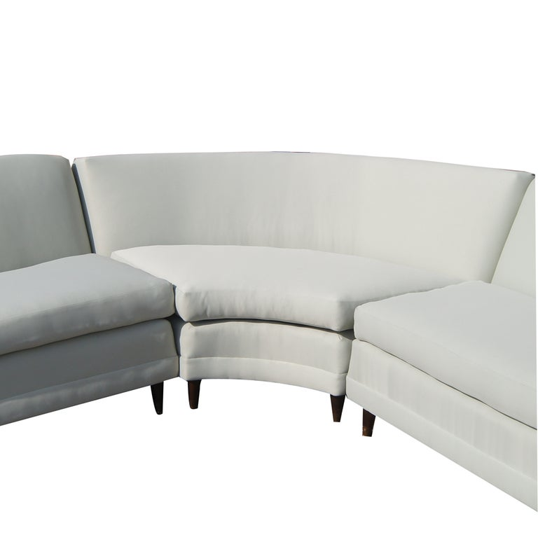 Mid century kroehler three piece sectional at 1stdibs for Mid century 3 piece sectional sofa