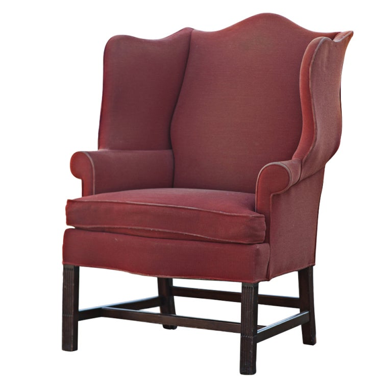 Hickory Townsend Wing Back Chair For Sale At 1stdibs