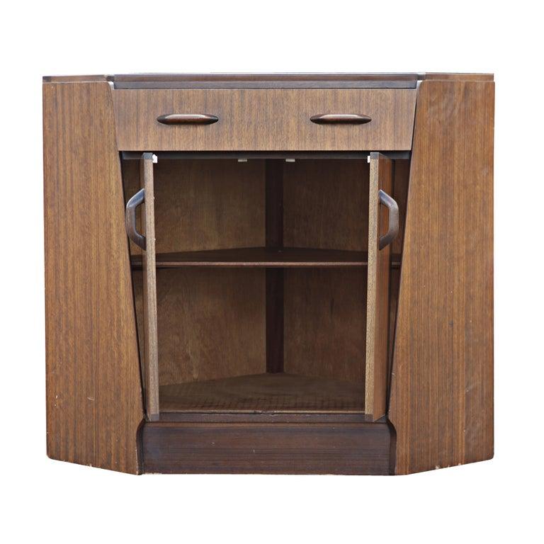 Mid Century G Plan Mahogany Corner Cabinet Secretary Desk 2