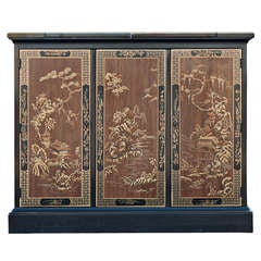 Drexel Heritage Chinoiserie Rolling Buffet