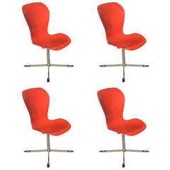 Set of Four Ion Chairs Designed by Gideon Kramer for American Desk Manufacturing