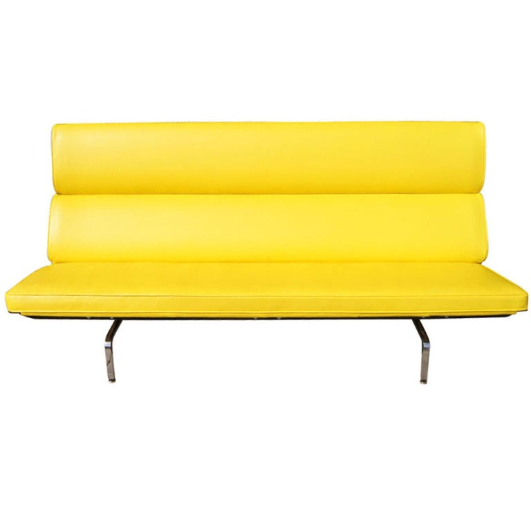 Eames For Herman Miller Yellow Compact Sofa 1