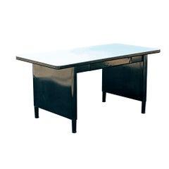 Vintage Mid Century McDowell And Craig Panel Leg Desk Work Table