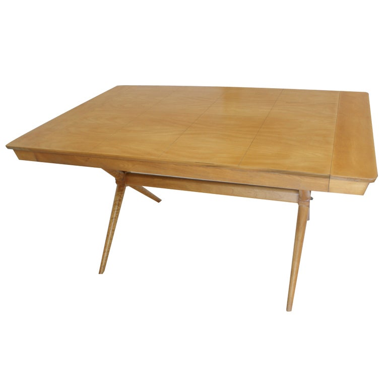 Vintage Mid Century Maple Extension Dining Table At 1stdibs