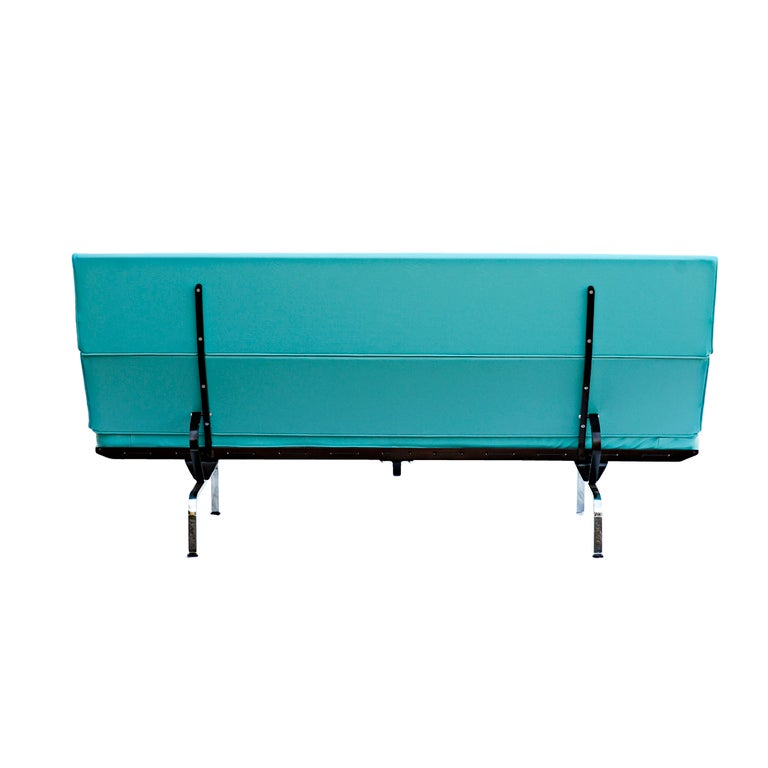 eames for herman miller blue compact sofa at 1stdibs
