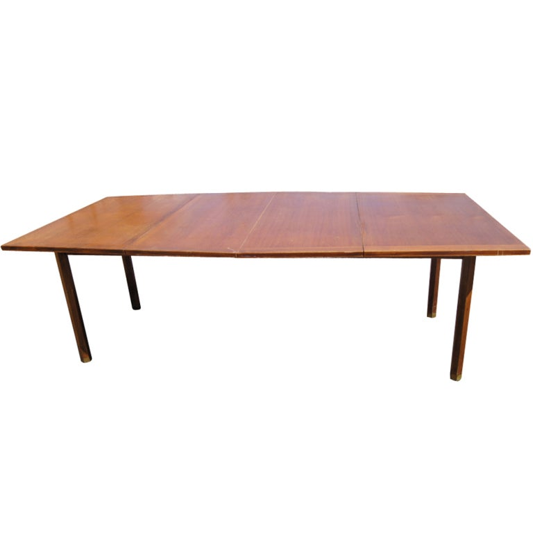 Mid century scandinavian style extension teak dining table for sale at 1stdibs - Scandinavian teak dining room furniture design ...