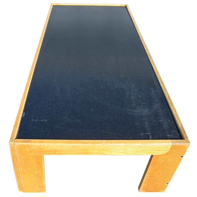 Tobia Scarpa For Cassina Coffee Table W Reversible Laminate Top At 1stdibs