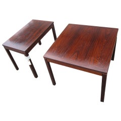 Kleppe Mobelfabrik Rosewood Side Tables