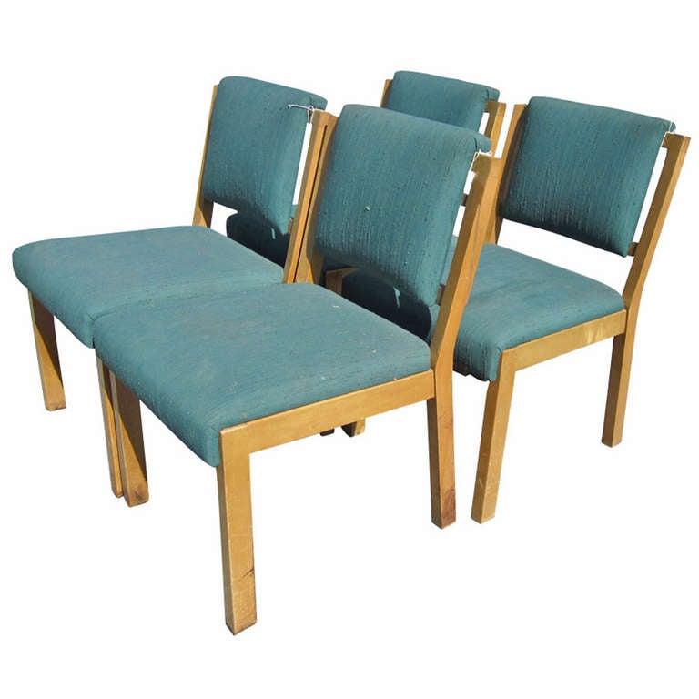 Green Dining Room Chairs: Van Keppel And Green (VKG) For Brown Saltman Set Of Ten