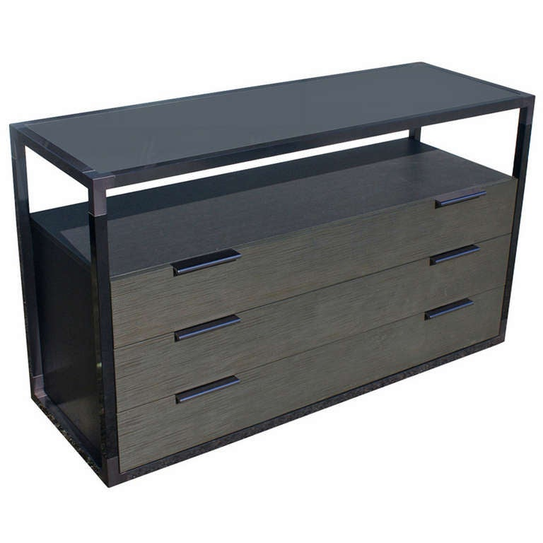 ligne roset contours sideboard cabinet with elephant lacquer at 1stdibs. Black Bedroom Furniture Sets. Home Design Ideas