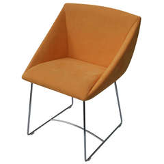 Ligne Roset Papillon Side Arm Chair Orange