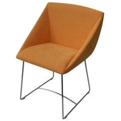 Ligne Roset Papillon Side Arm Chair Orange