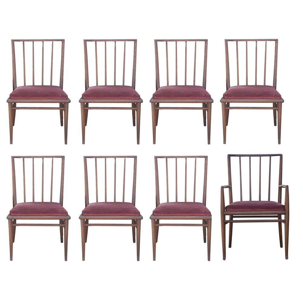 6 T.H. Robsjohn Gibbings For Widdicomb Mahogany Dining Chairs