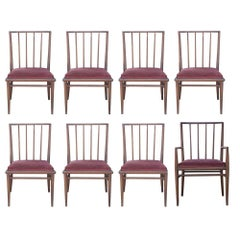 6 T.H. Robsjohn Gibbings For Widdicomb Mahogany Dining Chairs