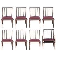 4 T.H. Robsjohn Gibbings For Widdicomb Mahogany Dining Chairs