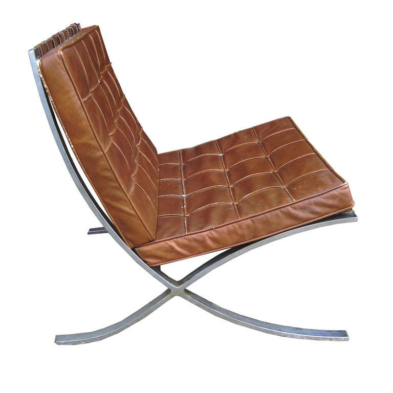 mies van der rohe for knoll barcelona chairs at 1stdibs