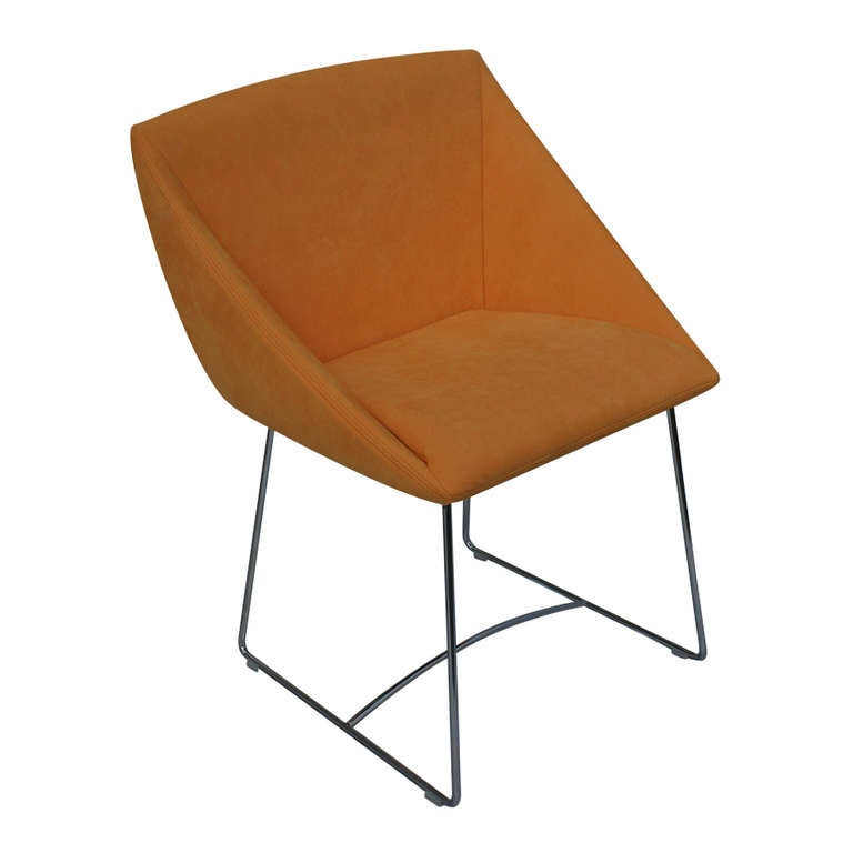 ligne roset papillon side arm chair orange for sale at 1stdibs. Black Bedroom Furniture Sets. Home Design Ideas