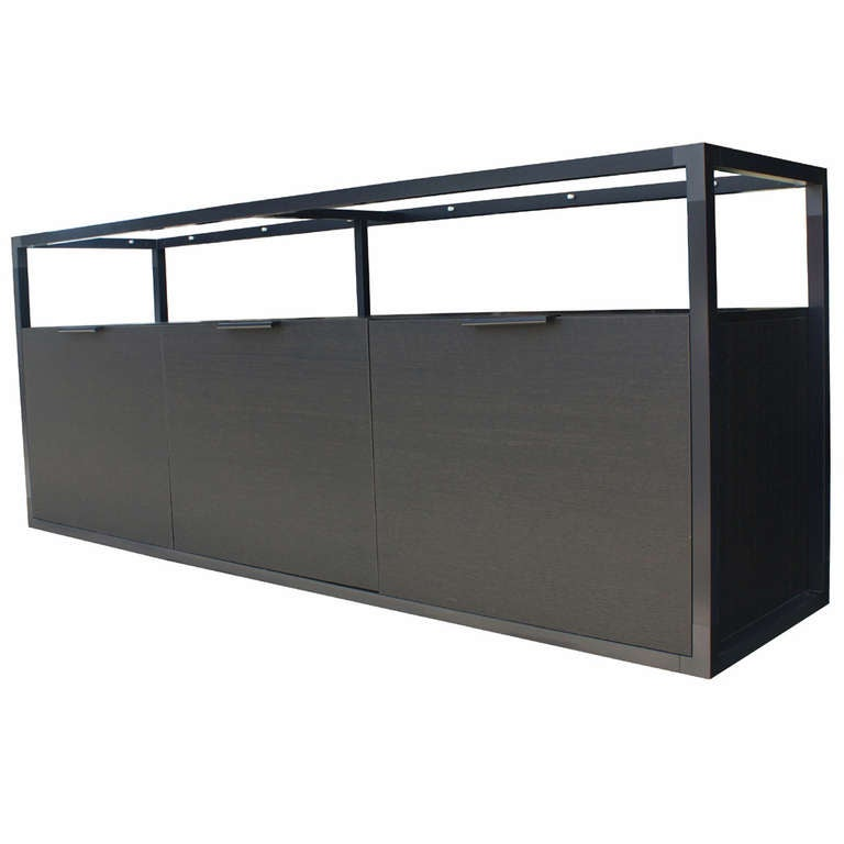 ligne roset contours sideboard cabinet elephant lacquer at 1stdibs. Black Bedroom Furniture Sets. Home Design Ideas