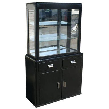 art deco metal medical cabinet at 1stdibs. Black Bedroom Furniture Sets. Home Design Ideas