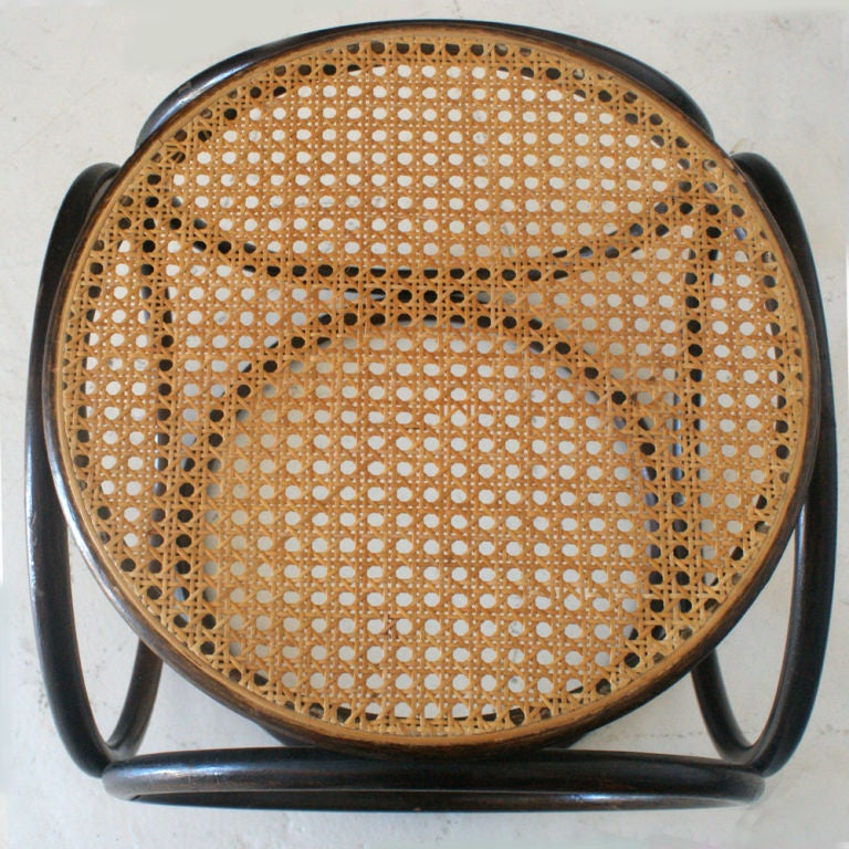 Thonet Bentwood And Cane Stool Ottoman image 2