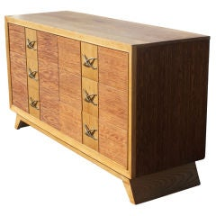 Paul Frankl For Brown Saltman Oak And Bamboo Dresser