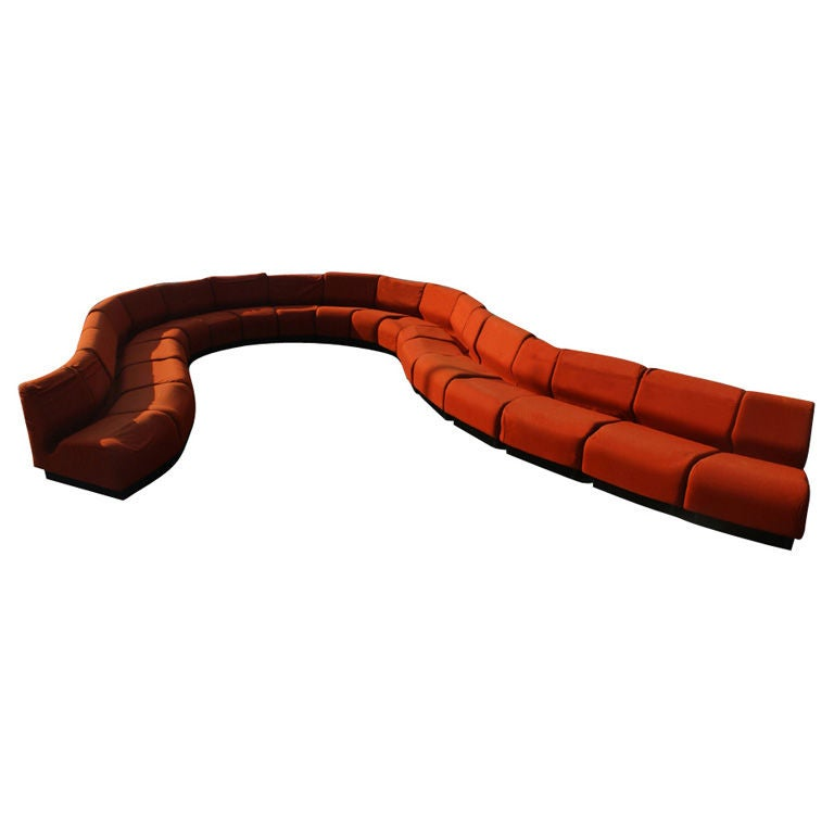 Eighteen Piece Don Chadwick For Herman Miller Sectional