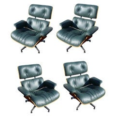 Four Eames For Herman Miller Lounge Chairs