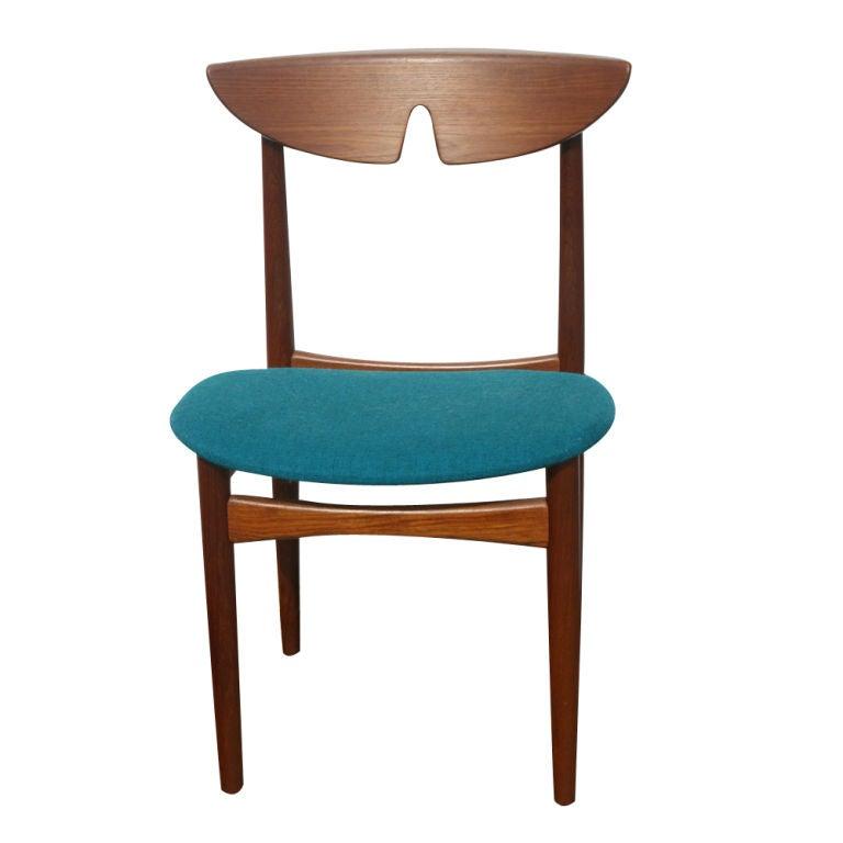 three kurt ostervig scandinavian teak dining chairs for