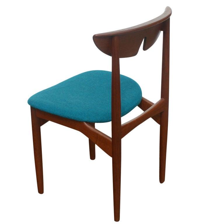 Three kurt ostervig scandinavian teak dining chairs for sale at 1stdibs - Scandinavian teak dining room furniture ...